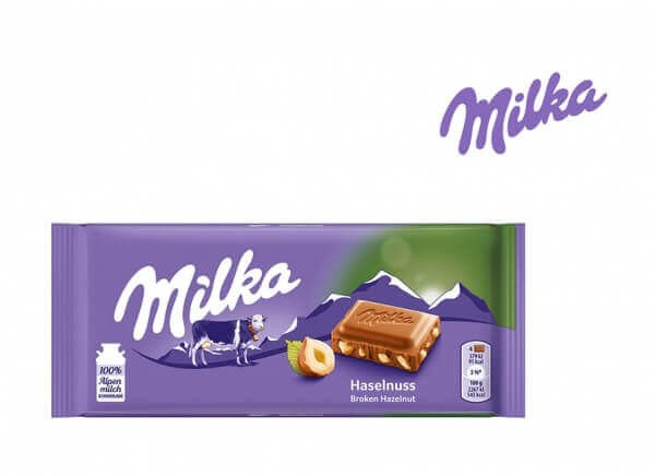 شکلات میلکا فندوقی milka hazelnut
