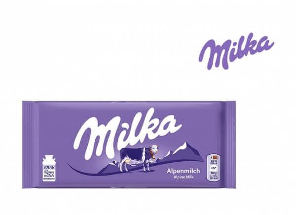 شکلات میلکا شیری milka Alpine milk