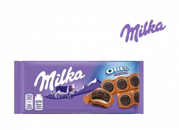 شکلات میلکا ساندویچ اورئو Milka Oreo Sandwich Chocolate