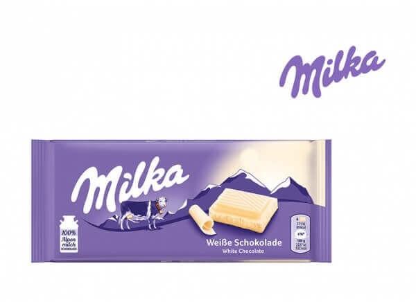 شکلات میلکا سفید milka White Chocolate