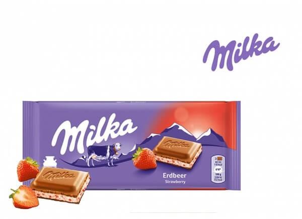 شکلات میلکا توت فرنگی Milka Strawberry