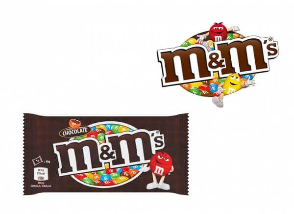ام اند امز m&m's شکلاتی وزن 45 گرم