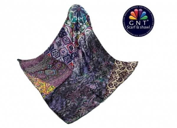 روسری ابریشمی زنانه جی ان تی GNT مدل S18-1034 کد 06