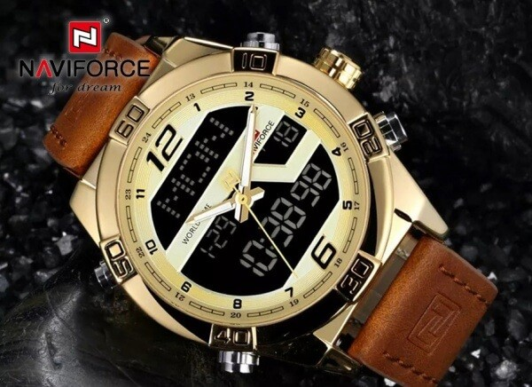 ساعت مچی ناوی فورس NAVIFORCE مدل NF9128M رنگ طلایی