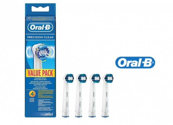 Oral-B Precision Clean Toothbrushhead 4 PCs
