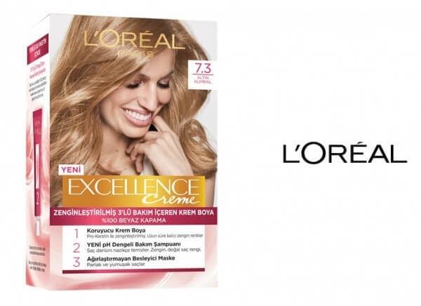 loreal excellence 7.3 natural dark golden blonde